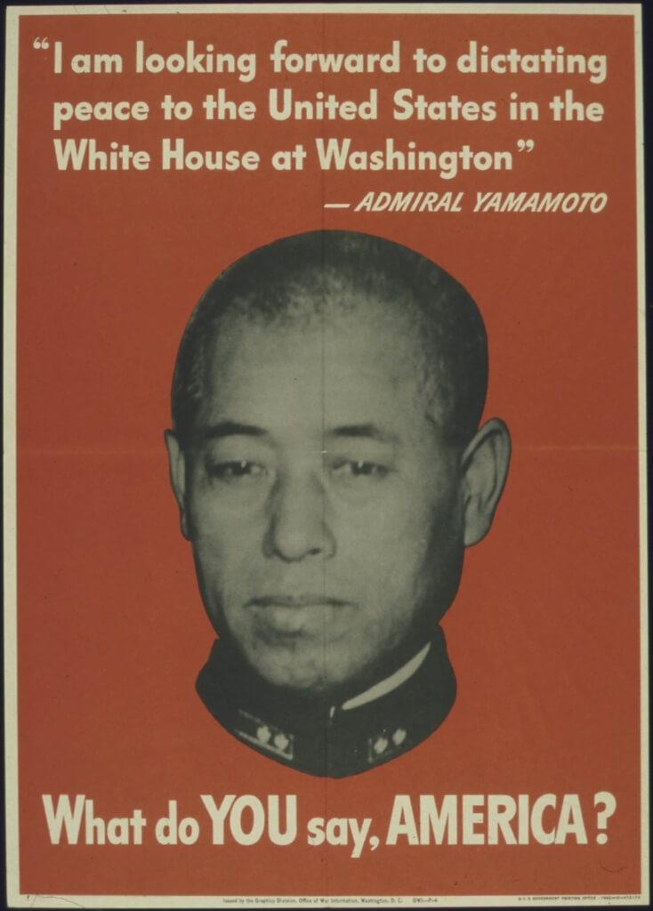 Yamamoto Quote Propaganda Poster